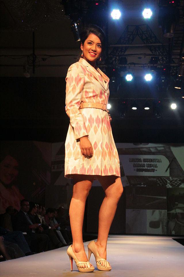 Sadiccha Shrestha wearing SABAH Nepal