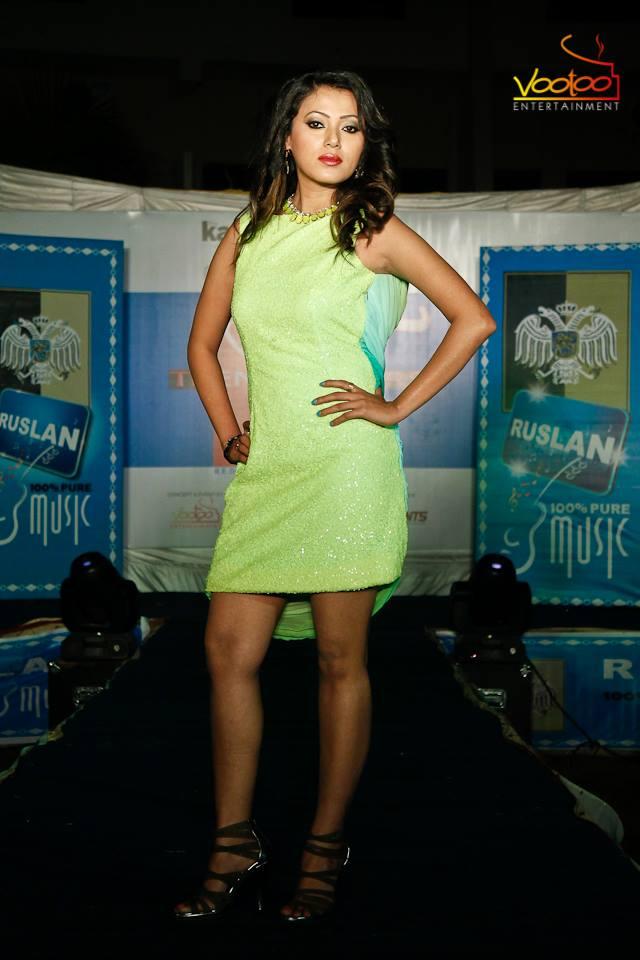 New actress Harshika Shrestha at the Narayangadh event.