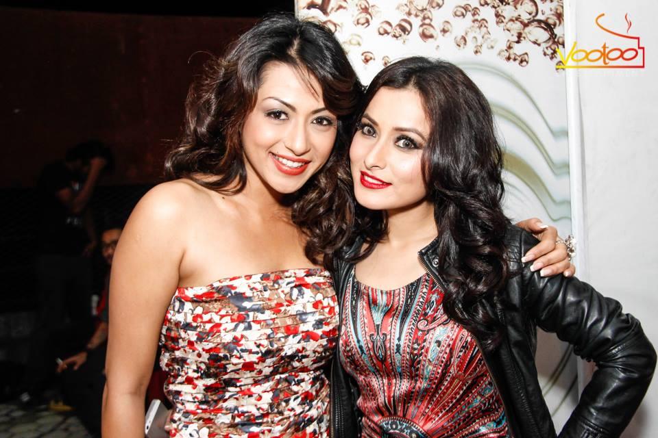 Sahana and Namrata! Oooh those contact lenses, intense!