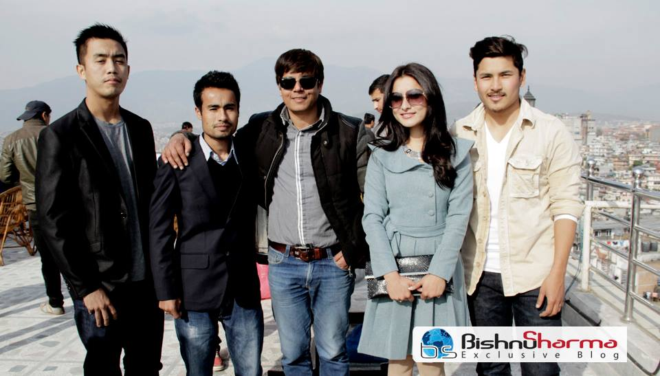 TANDAV Team with film-journo Bisnu Sharma.