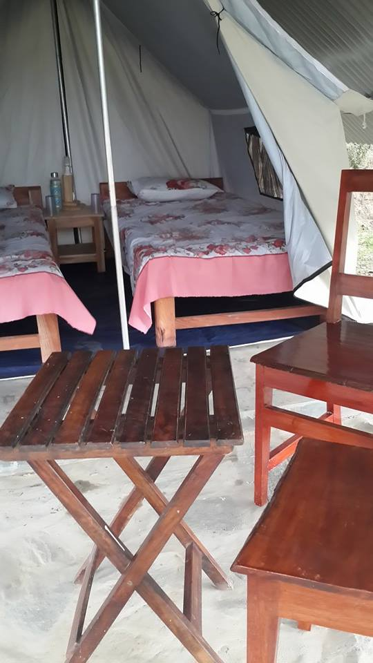 The tent accommodation at The Heritage