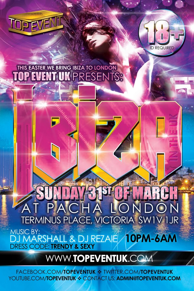 Top Event UK Ibiza Poster