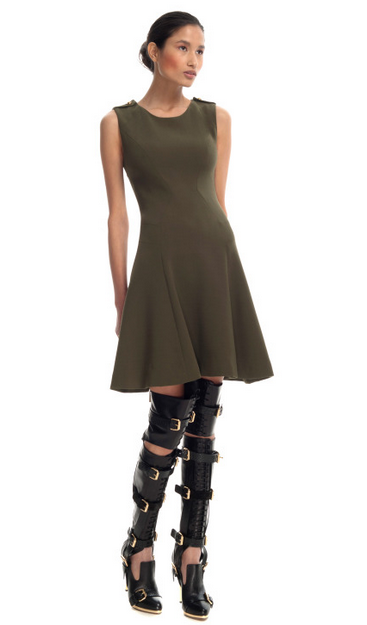 Regiment Flared Dress $1,695