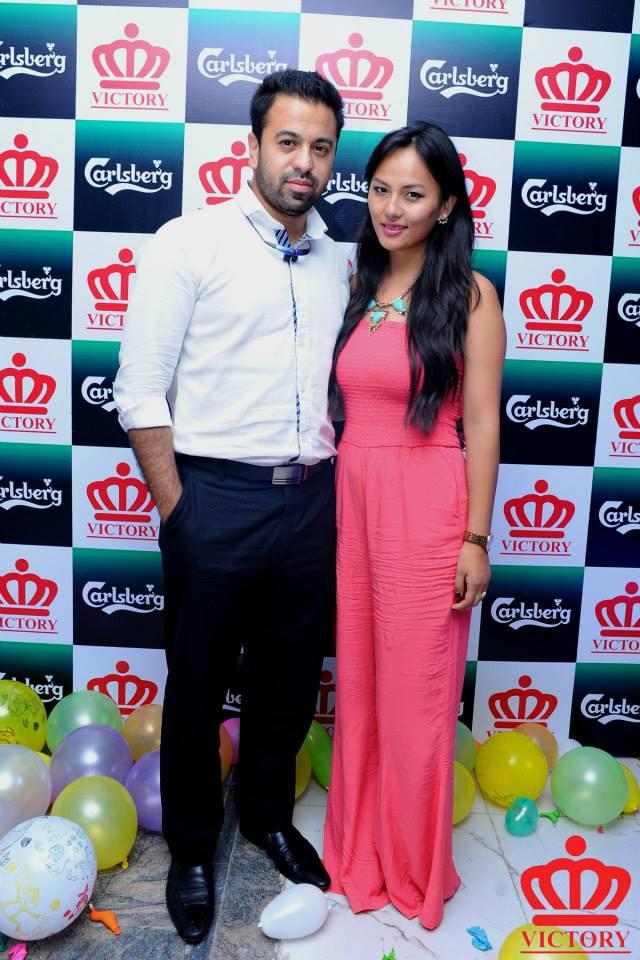 Dikesh Malhotra and Zenisha Moktan