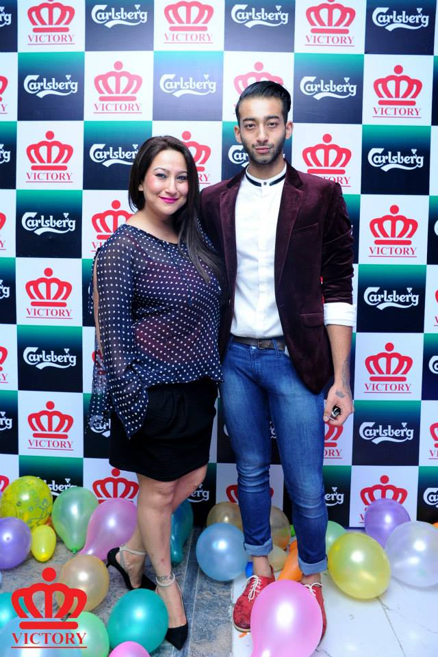 Raveena Desraj Shrestha and Ayushman Desraj Shrestha Joshi