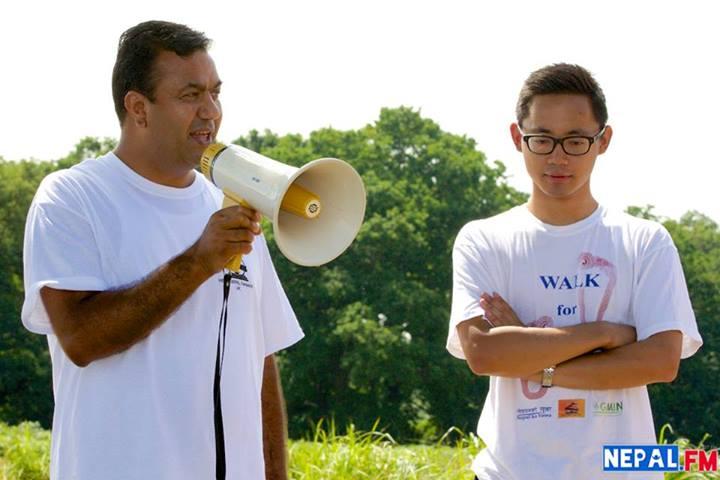 NRN UK's Kul Acharya with WfN organizer Jay Gurung