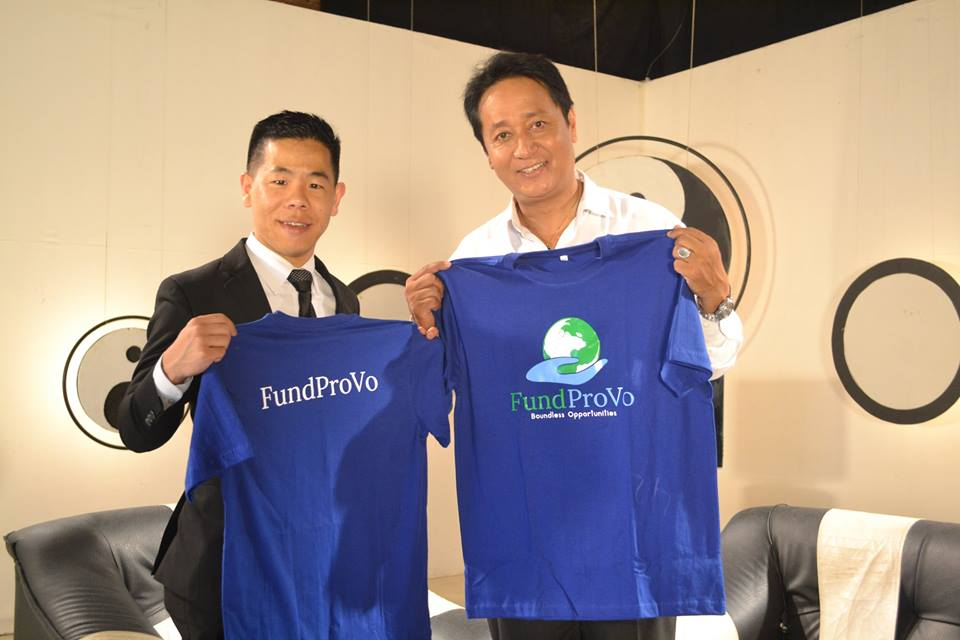 FundProVo CEO Yangmali Rai with Black and White show host Vijay Lama in Kathmandu