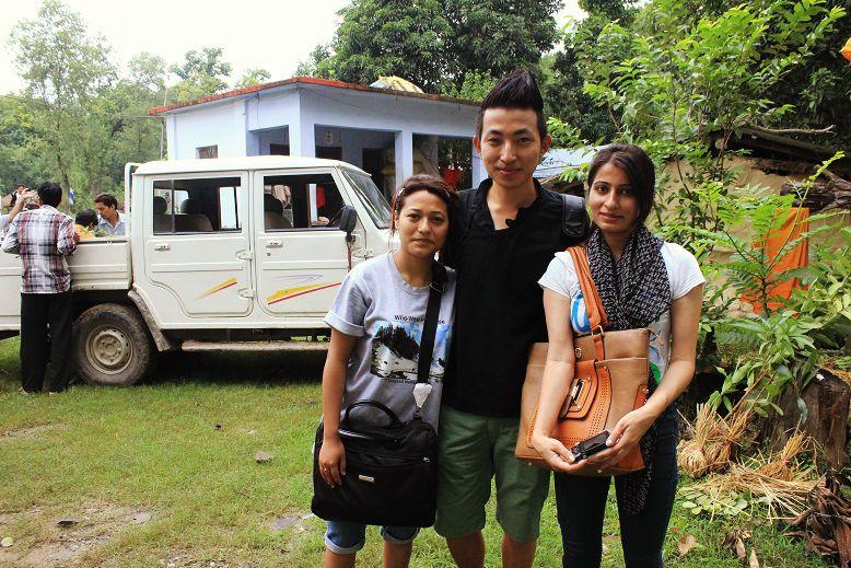 With Anisha from RAAIKA Tours and Karuna from TGIF/THT
