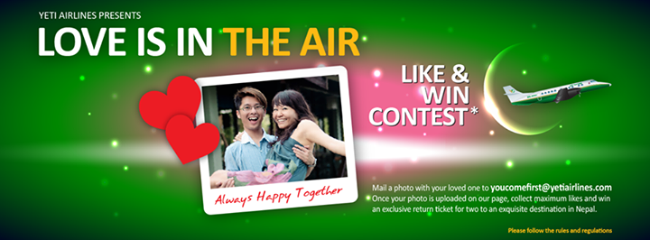 Yeti Airlines Valentines Day Competition