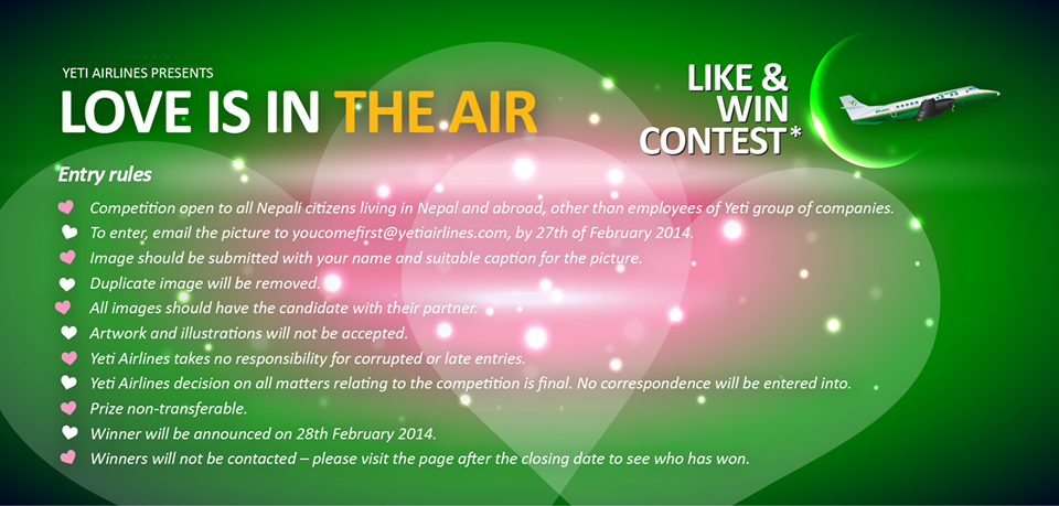 Yeti Airlines Valentines Day Competition1
