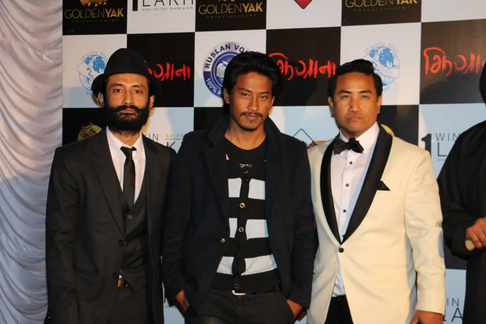 Producer Neev Pradhan, Nischal Basnet and director Pasang Lama
