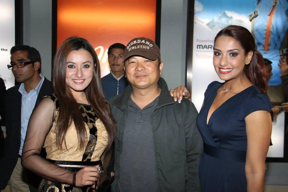 Namrata Shrestha, Dayahang Rai and Priyanka Karki (Aarpan Thapa at the back)