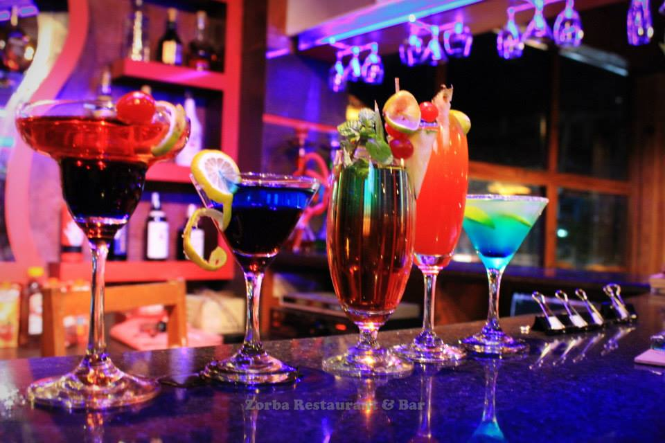 Cocktails at Zorba!