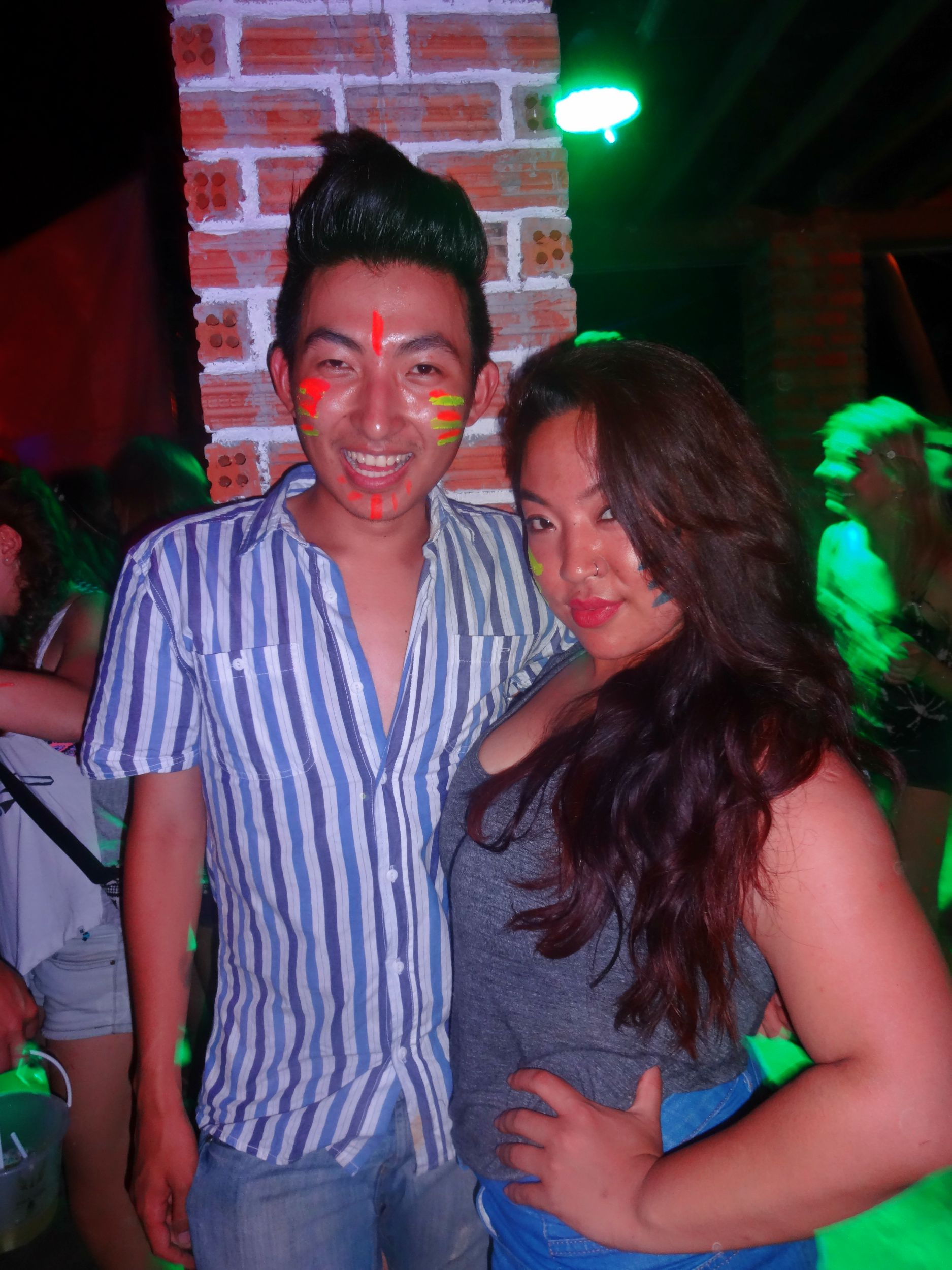 Aug 20: After a tiring ferry, bus, ferry journey from Phi Phi Island we made it to Koh Pha Ngan - home of the FULL MOON PARTY. And why waste an evening? This was Pre and I at the Jungle Party! Yes, it takes place in a jungle and you get a bucket of drinks with your ticket. It's pretty cool.