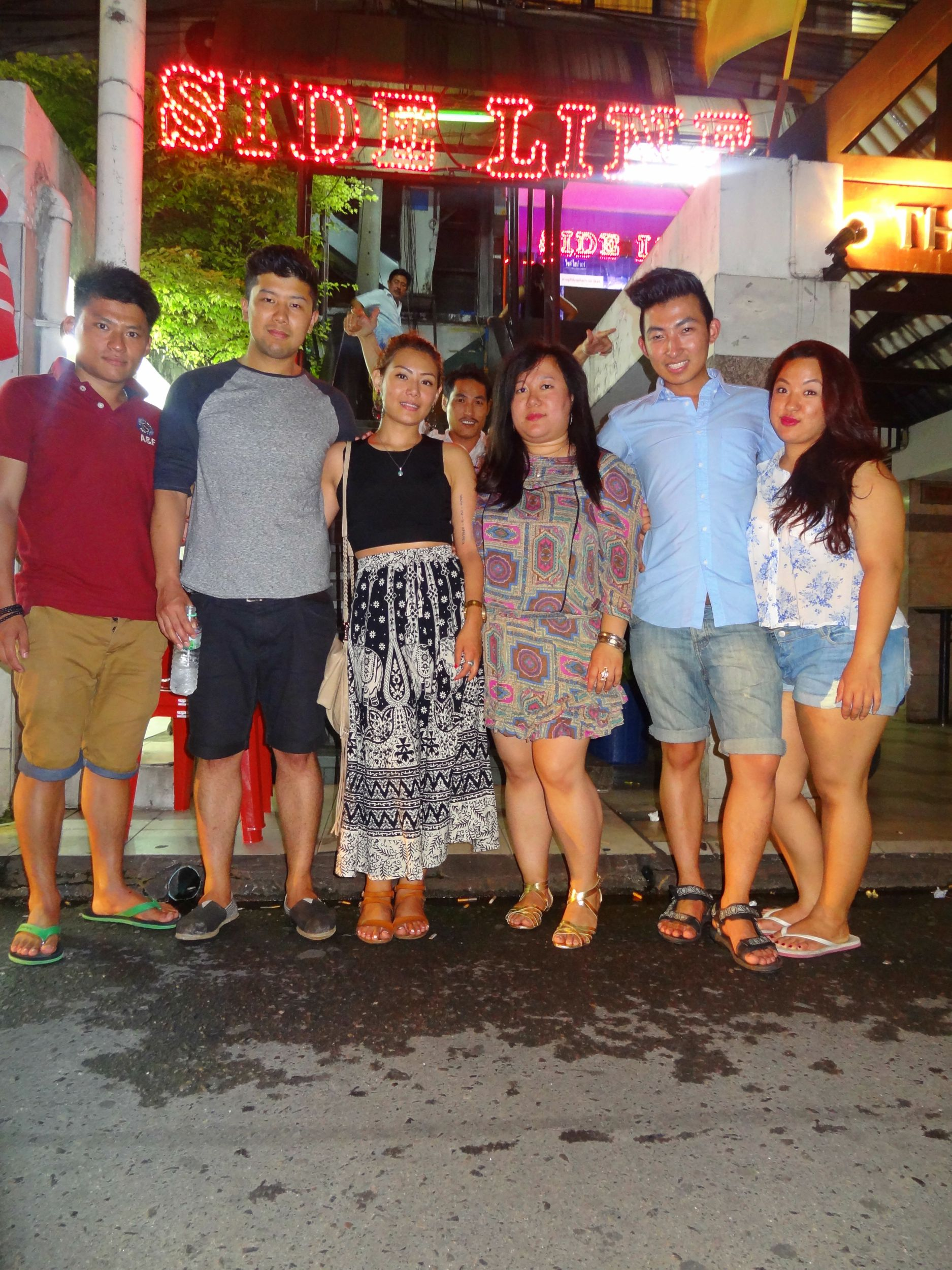 """Aug 13: Six of us arrived all separately from Nepal and the UK. During our stay in Bangkok we decided to visit the infamous tourist trap called Patpong for its """"nightlife"""". A very memorable night. #unforgettable"""