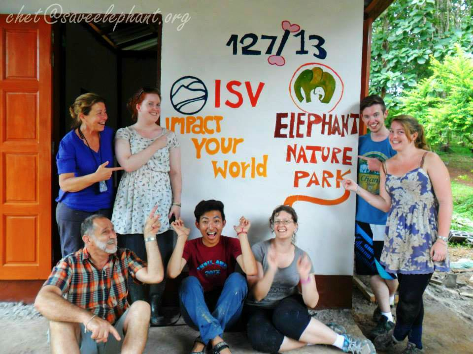 Sept 12: During my week long volunteering at the Elephant Nature Park, we were involved in all sorts of tasks from cutting corn, feeding elephants, cleaning poop to painting the rooms at a monastery at a nearby village. An experience that I will never forget, met wonderful people.