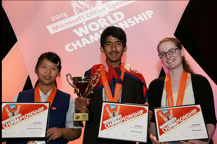 microsoft-excel-winner-for-2013-Himal-Shrestha